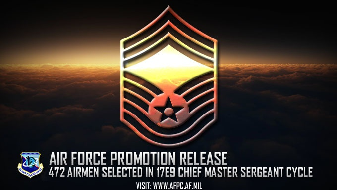 Air Force releases chief master sergeant 17E9 promotion cycle statistics
