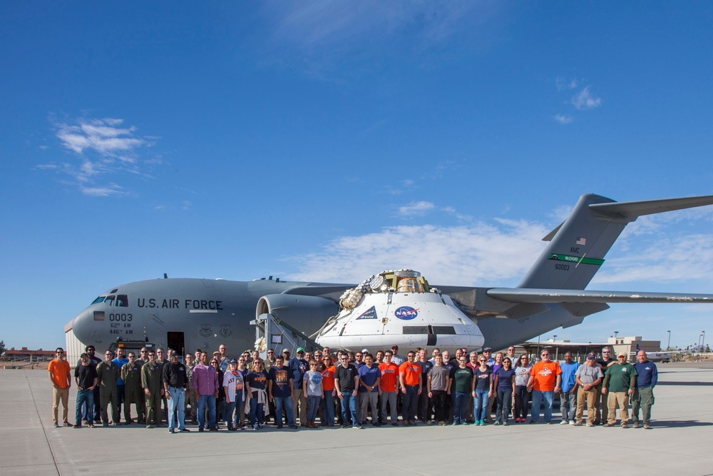 418th FLTS supports NASA in Orion spacecraft parachute test