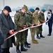 Battle Group Poland motor pool ribbon cutting ceremony