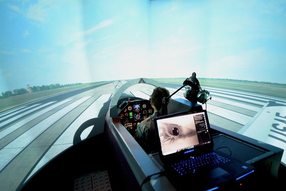 Researchers test virtual reality Adaptive Flight Training Study at Columbus AFB