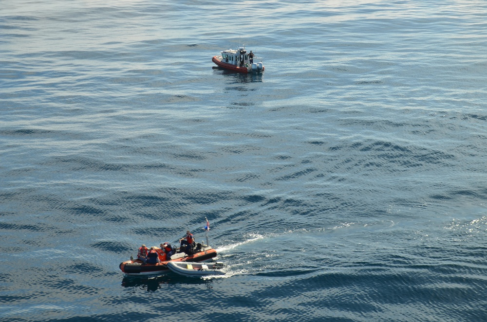 Coast Guard, locals respond to boat fire in San Pedro Channel