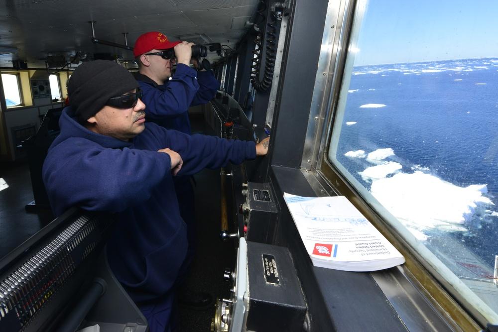 Coast Guard Cutter Polar Star transits toward Antarctica supporting Operation Deep Freeze 2018