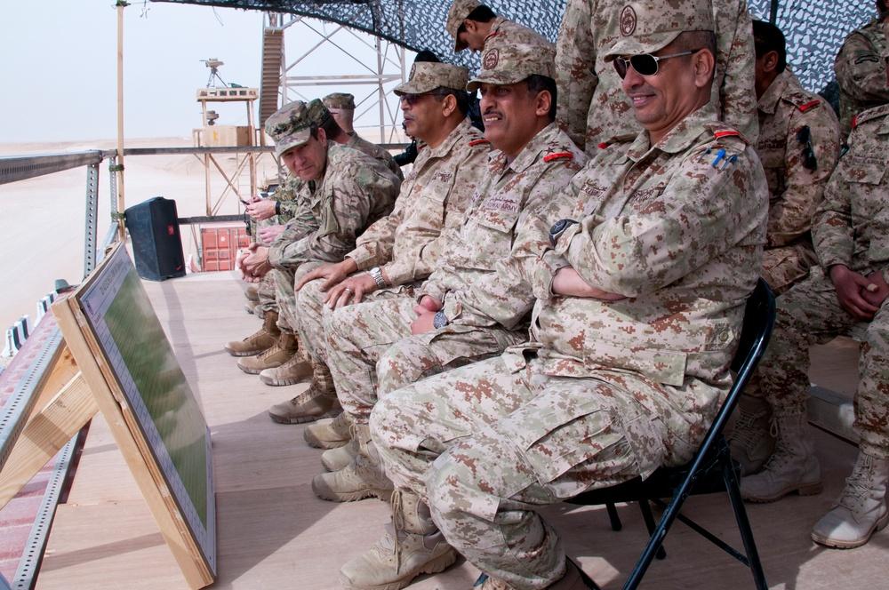Major Gen. Dorman Observes Combined Arms Maneuvers