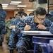 Sailors taking the E6 Advancement Exam