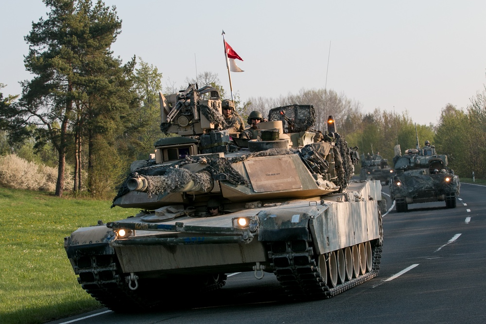 Dagger Brigade Conducts Tactical Road March During Combined Resolve X