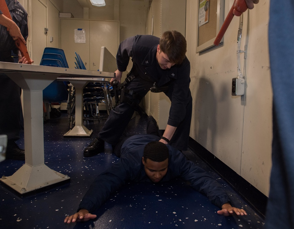 USS Pearl Harbor Conducts Anti-Terrorism Force Protection Drills