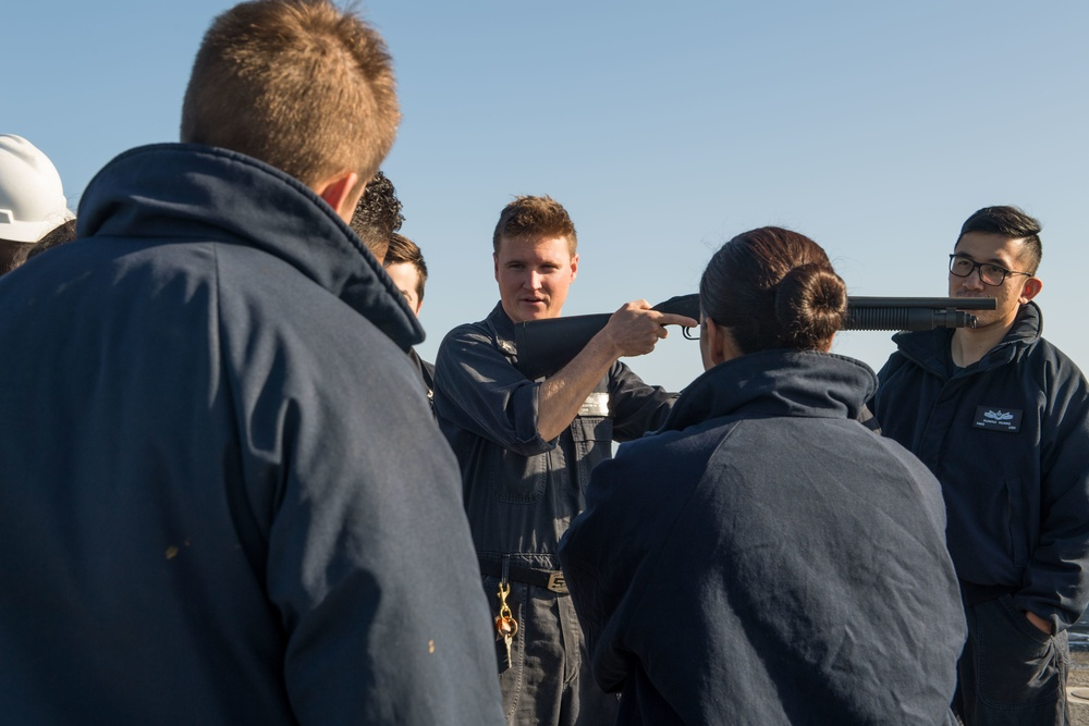 Pearl Harbor Conducts Small Arms Qualification Course