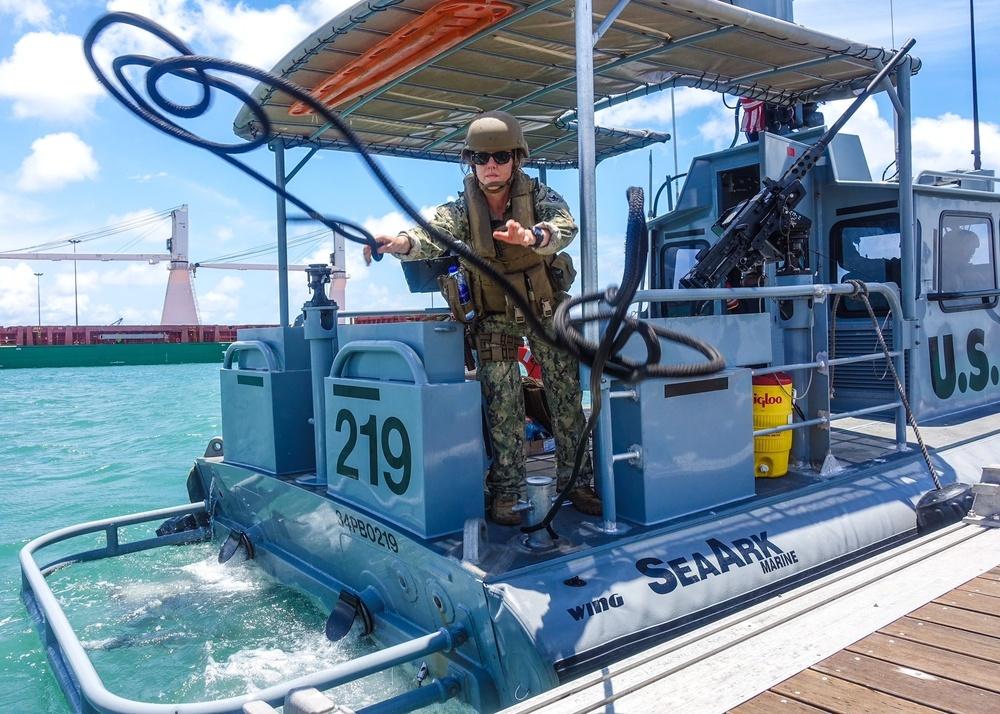 Securing a Patrol Boat Task Group 68.6