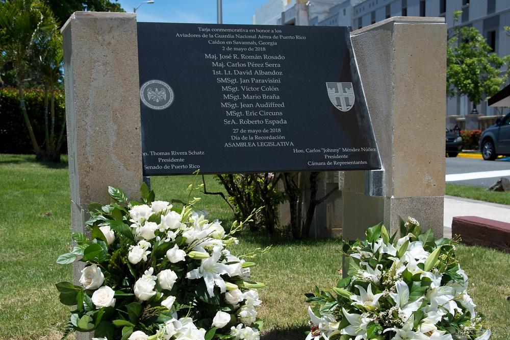 Memorial dedicated for 156th AW Airmen