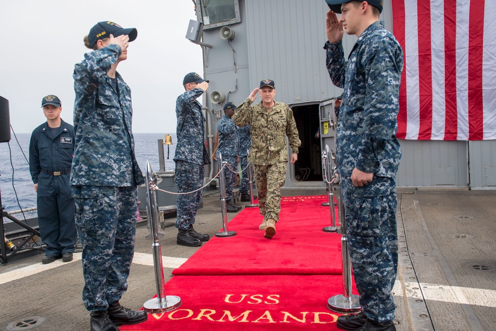 NORMANDY CHANGE OF COMMAND