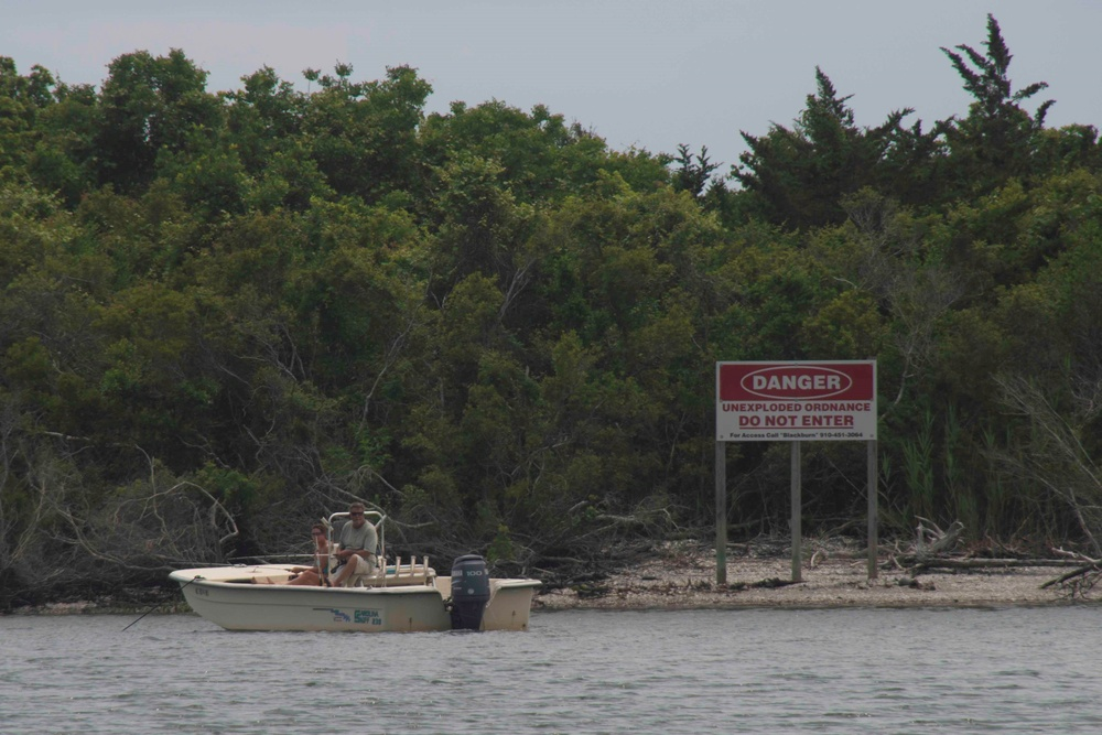 It's a no-go for boaters on explosive-laden Browns Island