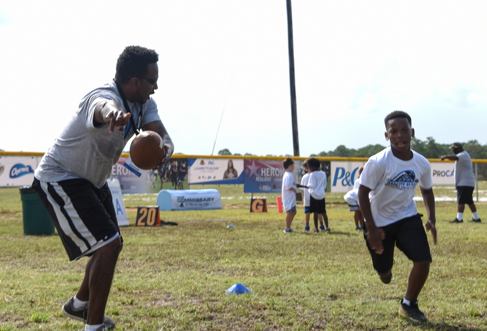 Lionhearted, but still a patriot: LeGarrette Blount puts on youth pro-camp at Tyndall