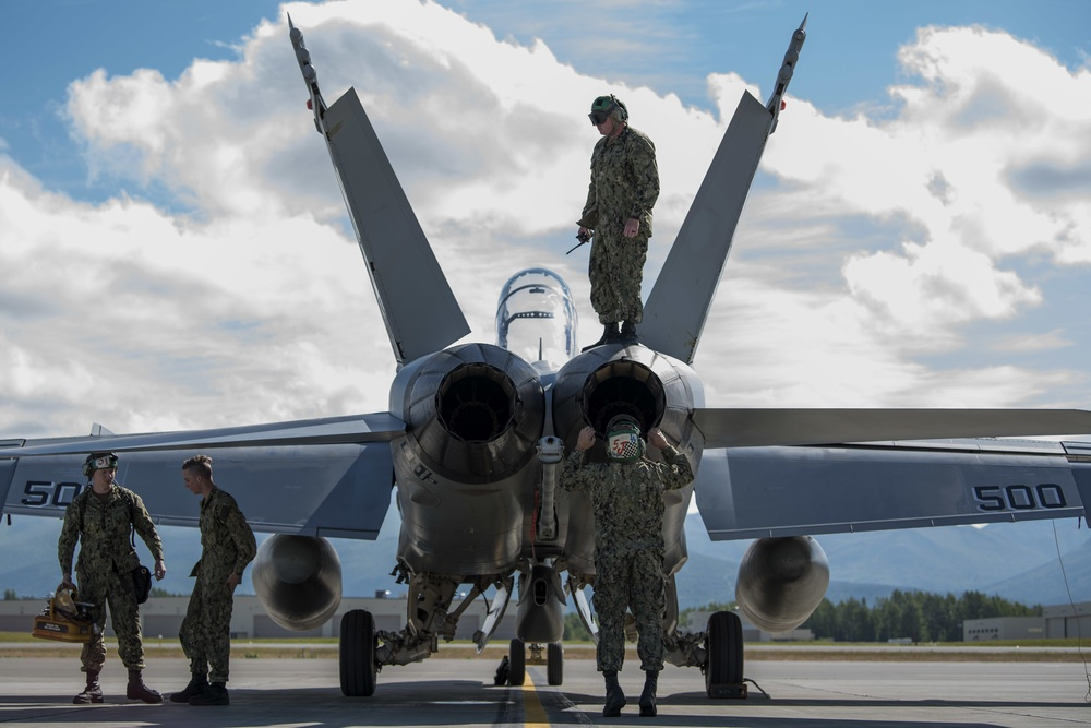 Ready to fight, ready for flight: Growler visits JBER