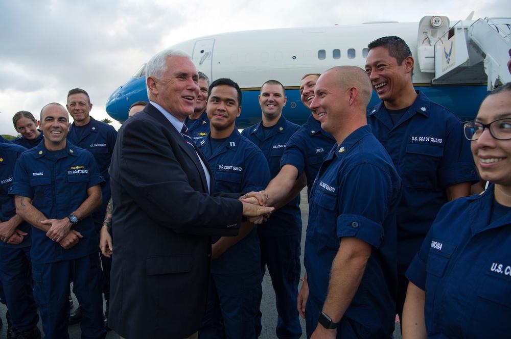 Vice President Mike Pence commemorates U.S. Coast Guard's 228th Birthday
