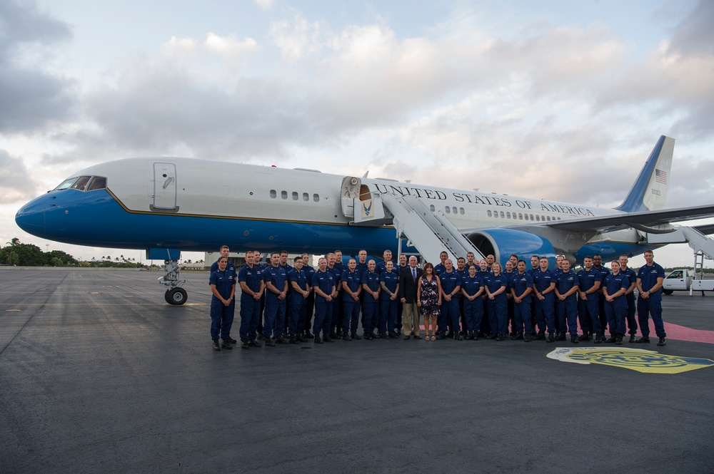 Vice President, Second Lady commemorates U.S. Coast Guard's 228th Birthday