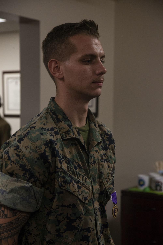3/7 Marine receives Purple Heart