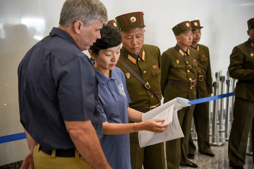 DPRK Returns Possible Remains from Korean War