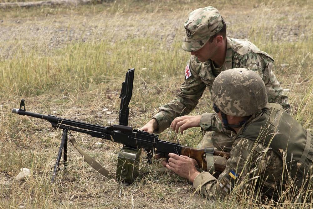 Georgian Army, Ukrainian Marines conduct urban ops training for Noble Partner 18