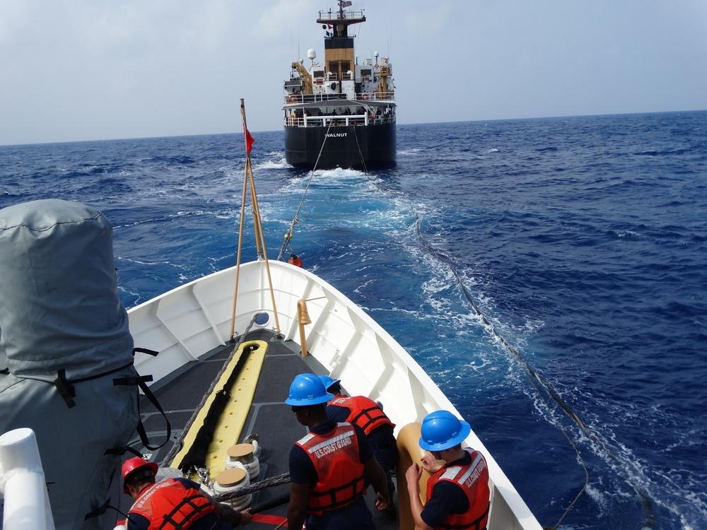 USCGC Oliver Berry, USCGC Walnut conduct refueling at sea