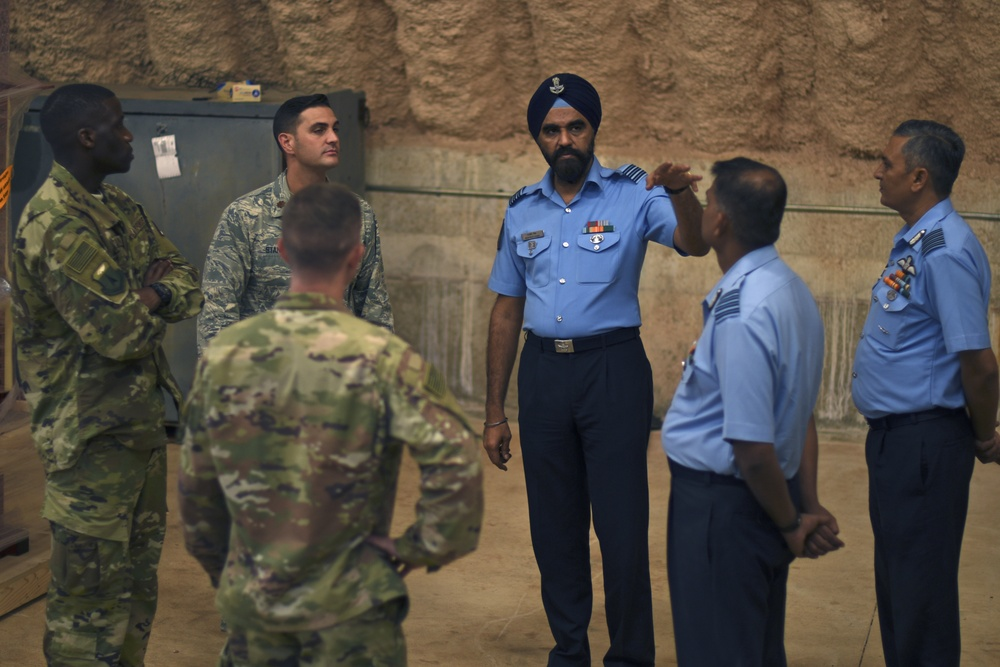 Indian Air Force Subject Matter Experts share training ideas with Airmen on Guam