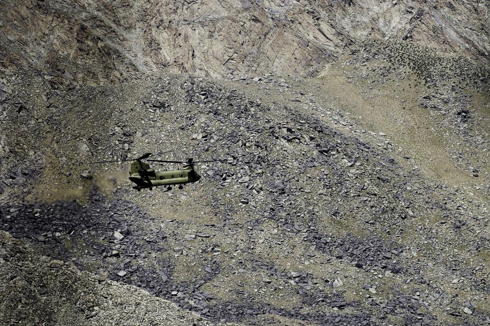 Flying over northern Afghanistan