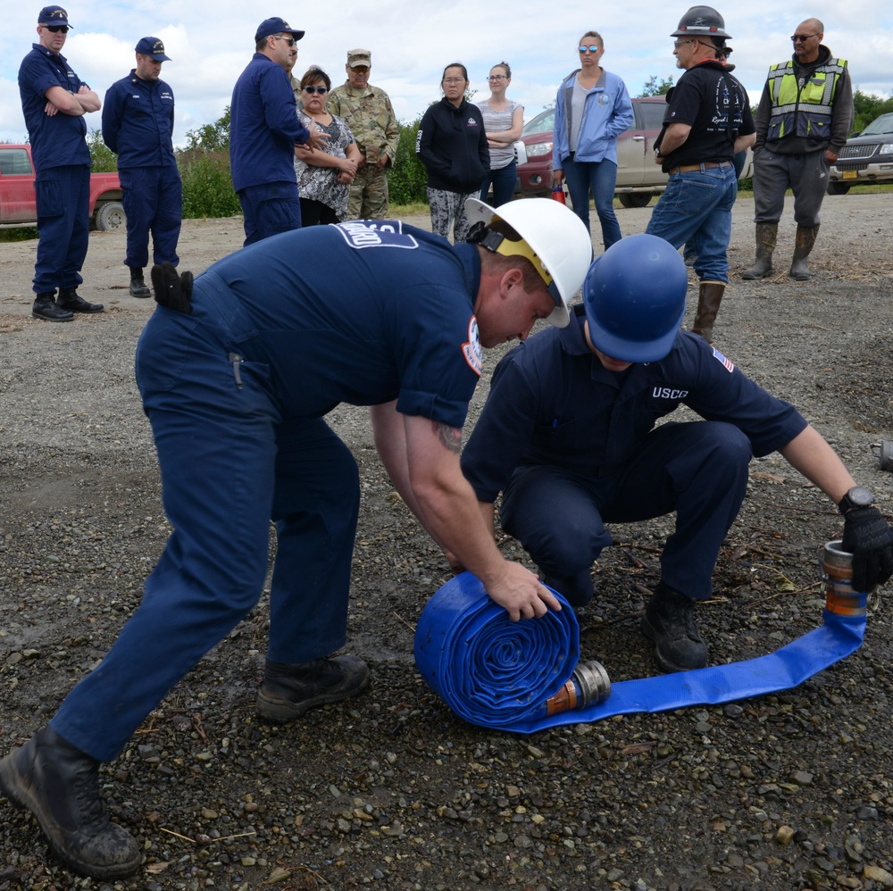 Alaska Chadux Corporation personnel give demonstration in Bethel, Alaska