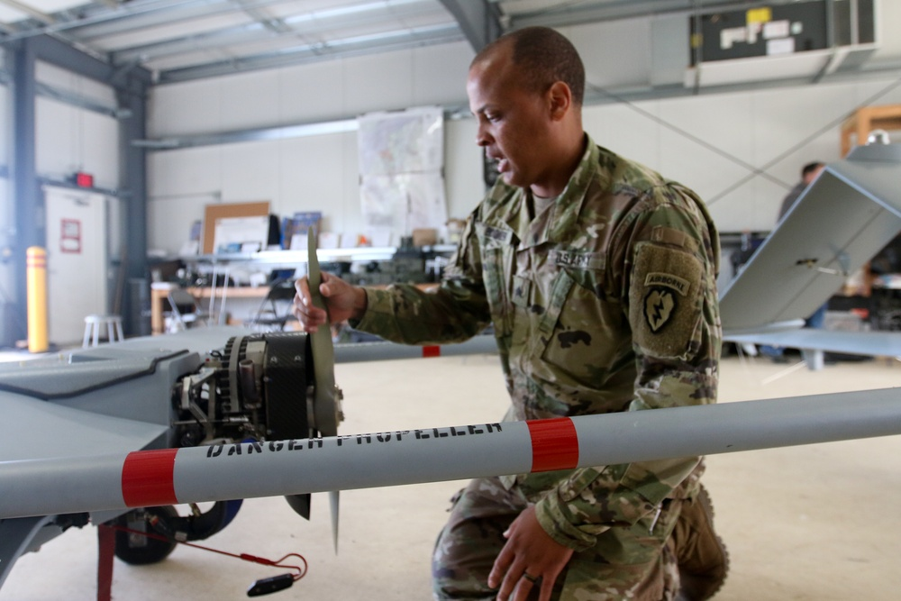 Spartans conduct drone maintenance