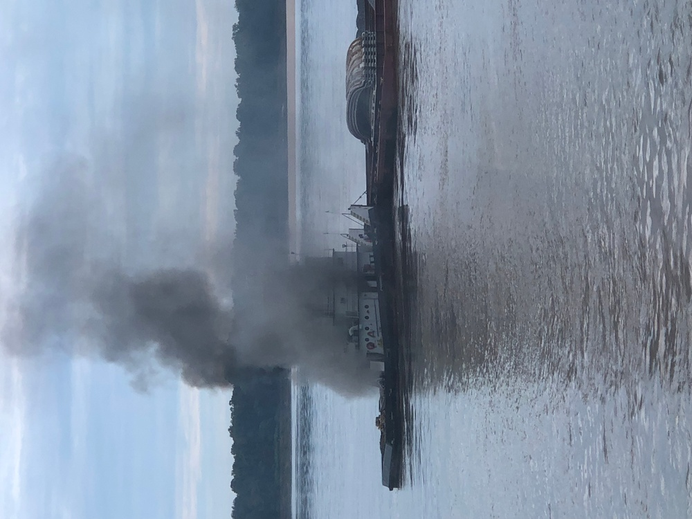 Coast Guard responds to vessel fire on Mississippi River