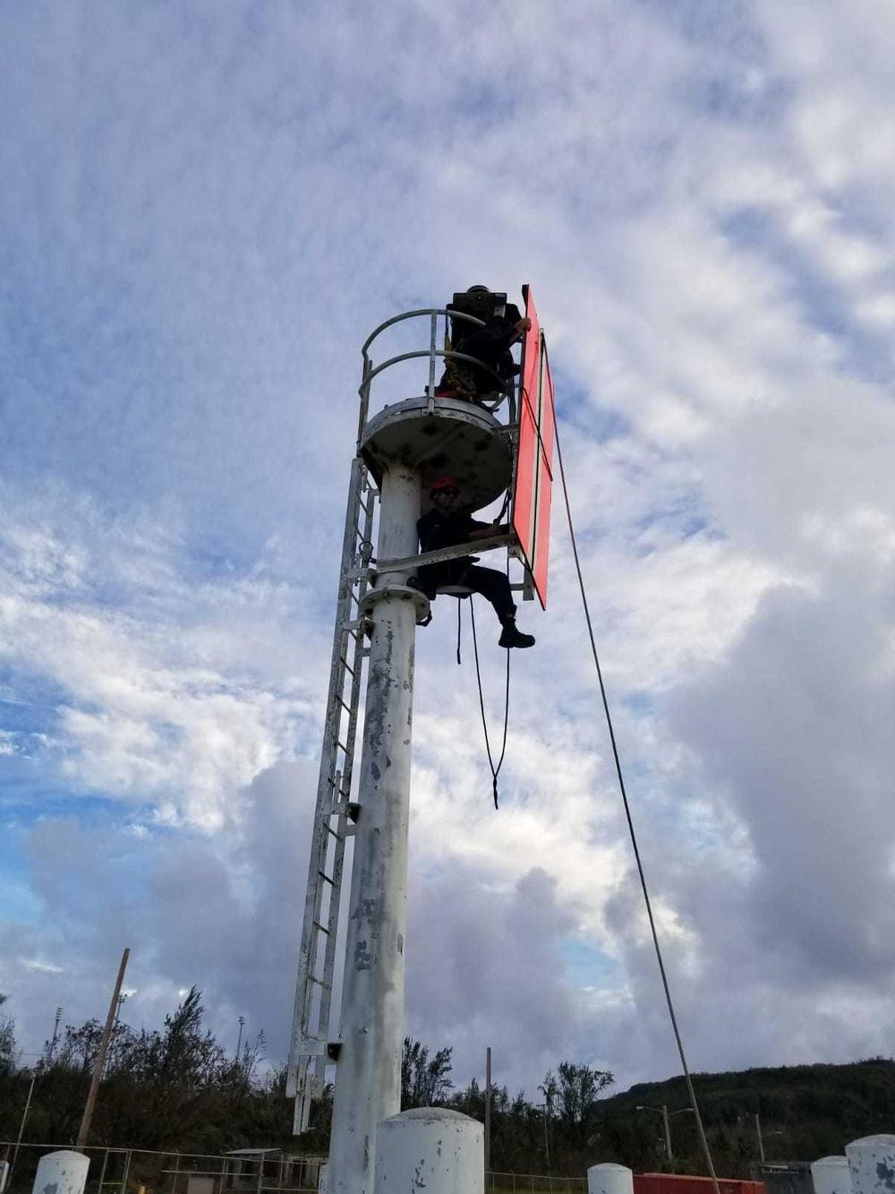 U.S. Coast Guard Cutter Sequoia: after Typhoon Mangkut