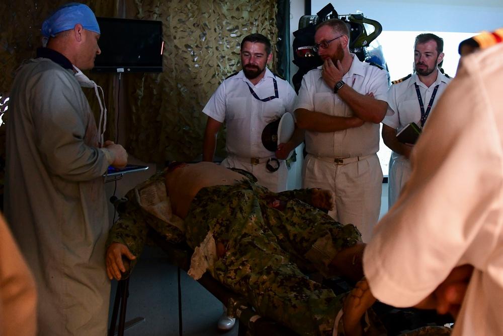 HMS Queen Elizabeth Medical Personnel Visit NMCP