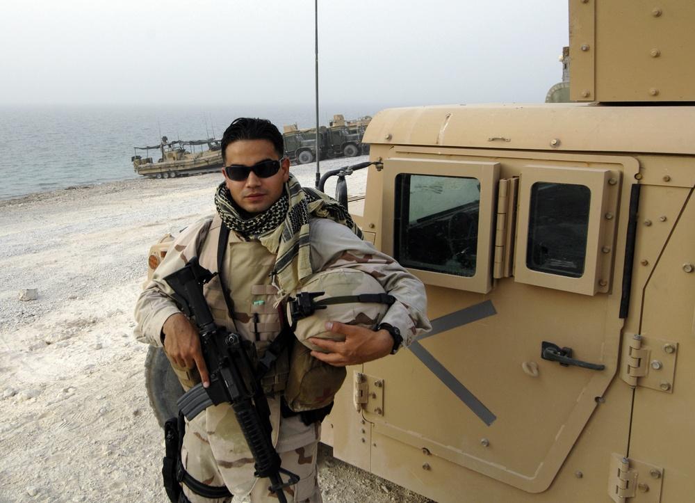 Navy COMCAM operator self-portrait