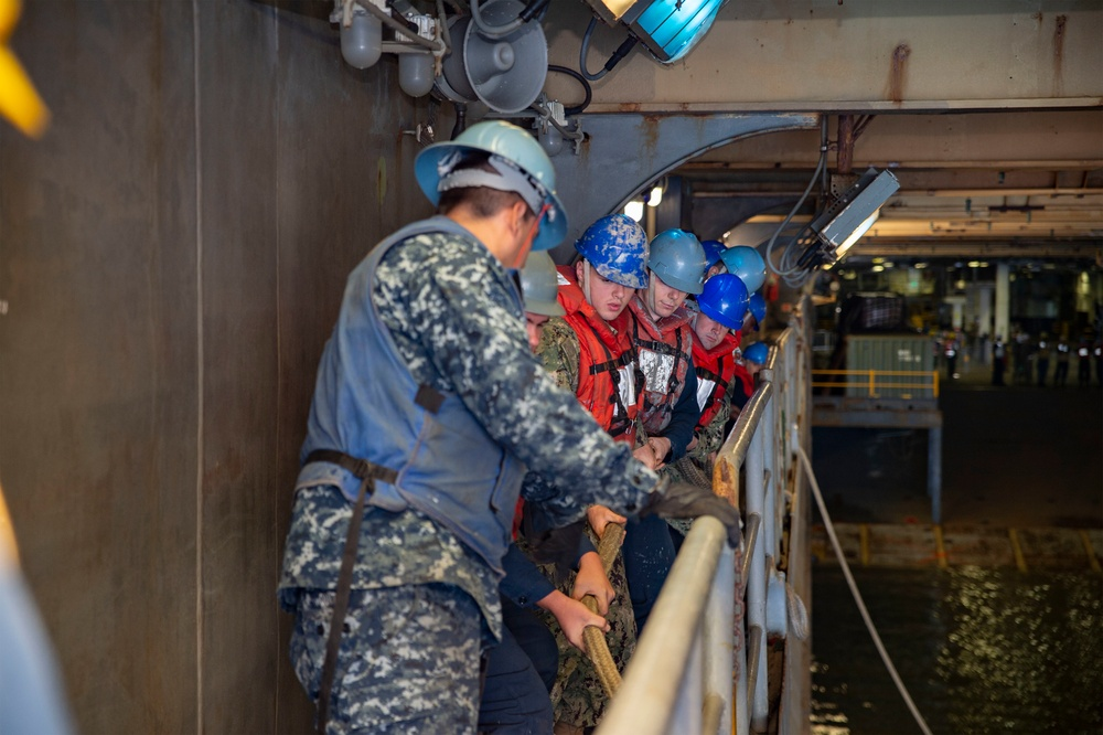 USS Bonhomme Richard Conducts Well Deck Operations