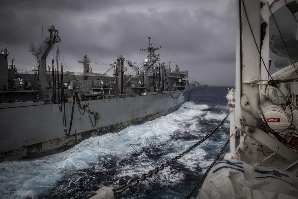 USNS Comfort is Replenished at Sea by USNS Supply