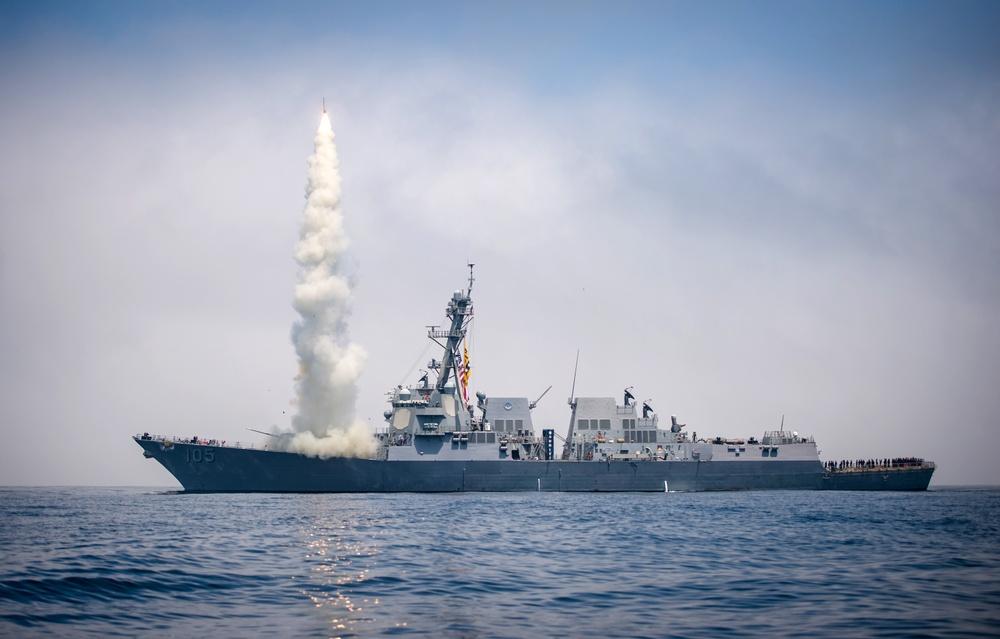 USS Dewey Tomahawk Missile Flight Test