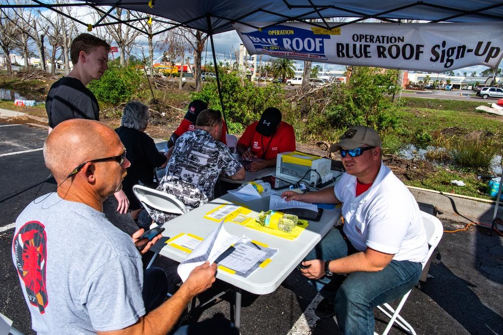 Hurricane Survivors Sign Up For Blue Roof Program