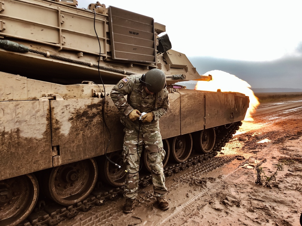 Battle Group Poland Fires an M1 Abrams Remotely