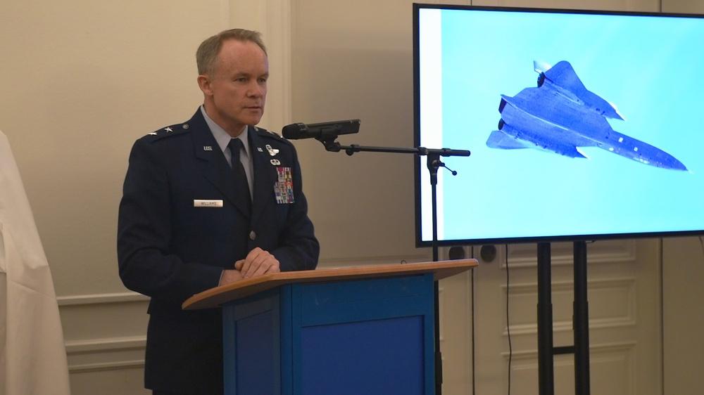 Swedish pilots presented with U.S. Air Medal