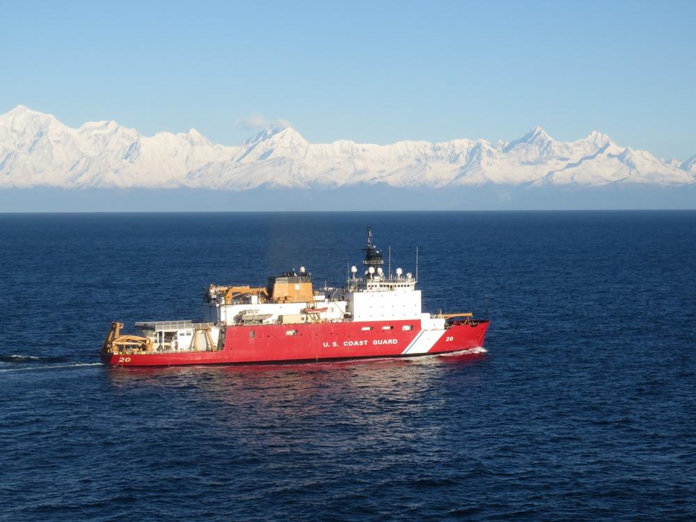USCGC Healy transits Southeast Alaskan waters
