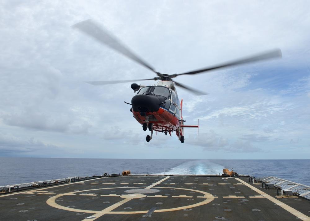 Coast Guard Cutter Munro conducts air operations