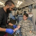 Base personnel donate blood