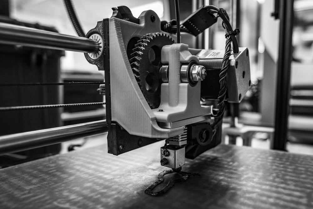 The U.S. Army's first 3D printer, operated by Soldiers assigned to 194th Combat Sustainment Support Battalion