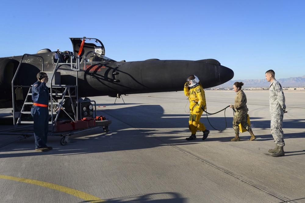 U-2 makes rare appearance at Nellis