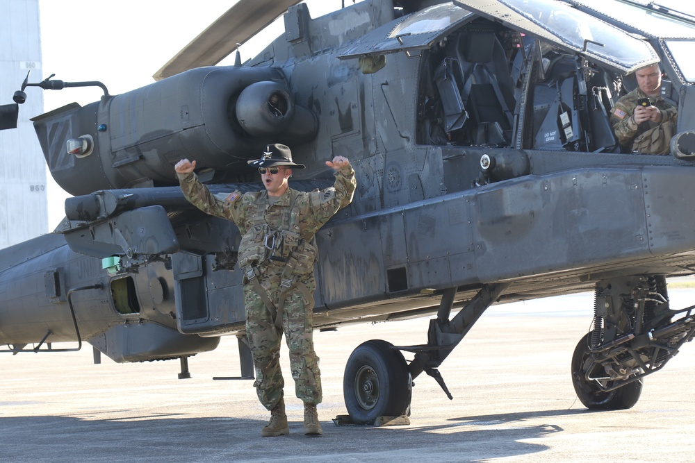3rd Squadron, 17th Calvary Regiment honors Pilot with Final Flight
