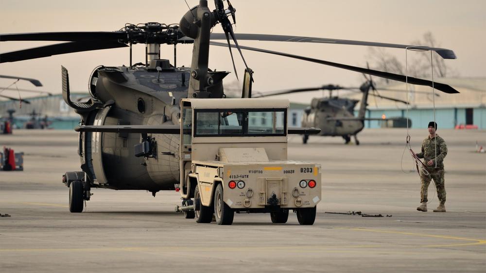 HH-60 MEDEVAC helicopter routine maintenance
