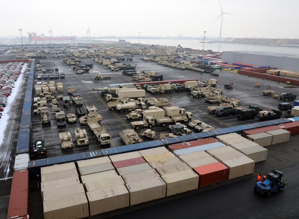 Atlantic Resolve Staging Yard
