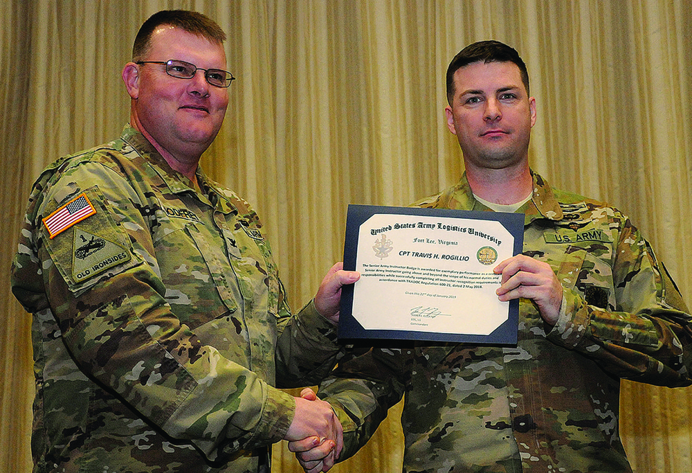 Army Logistics University officers earn instructor badges