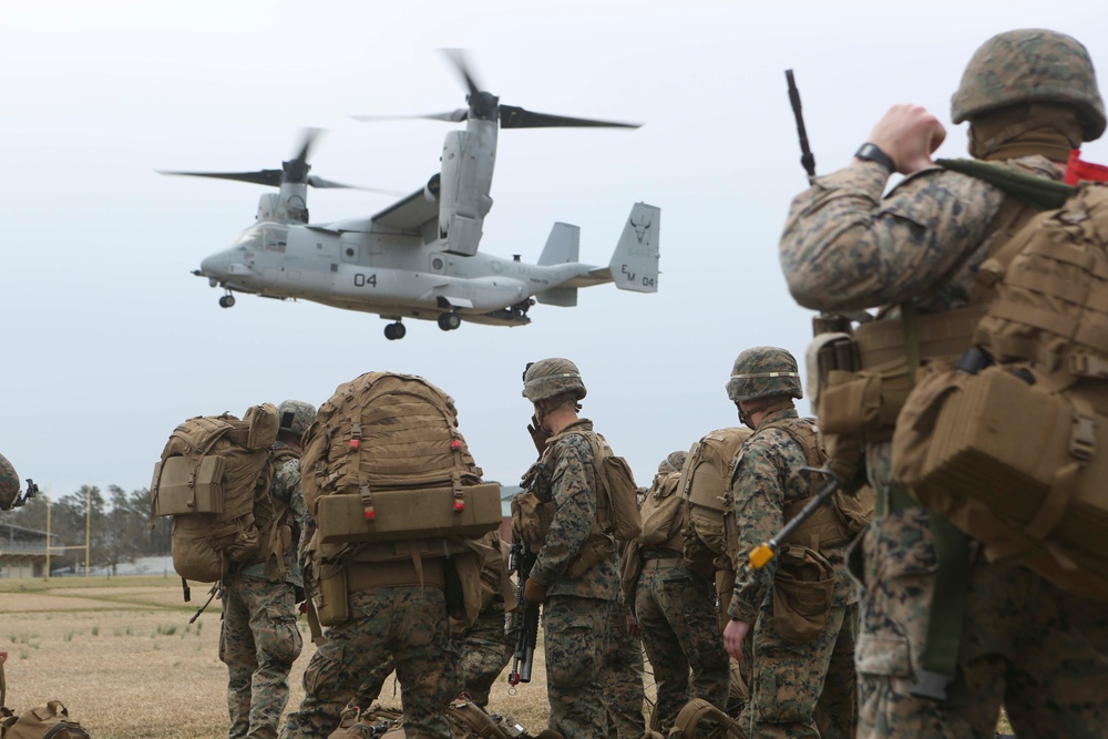 Marines exercise airfield security tactics