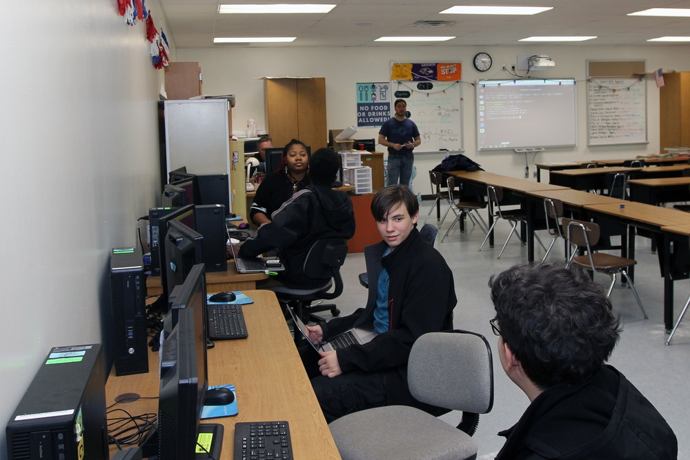 CyberPatriot mentors at Meade Senior High School
