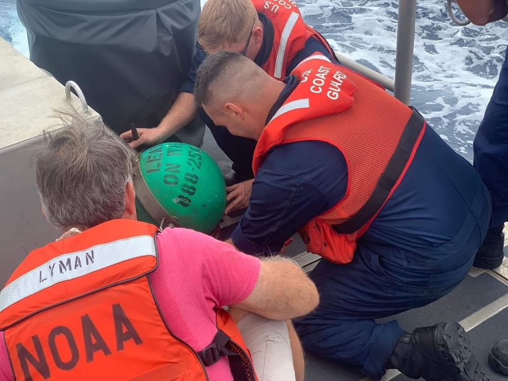 Coast Guard assists NOAA in whale disentanglement off Maui