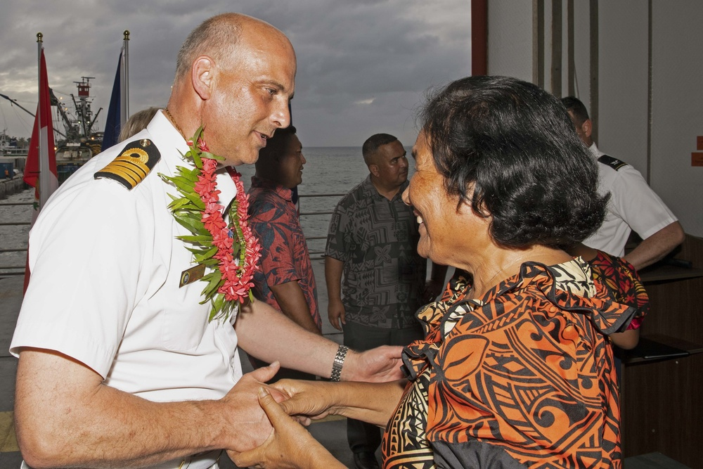 Pacific Partnership 2019 Holds Opening Ceremony Aboard USNS Brunswick